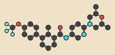 Basal Photograph - Sonidegib Cancer Drug Molecule by Molekuul