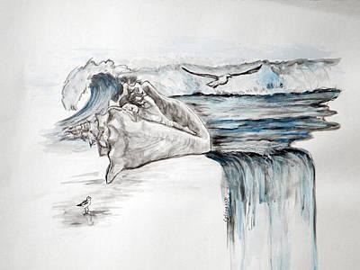 Sonido Del Mar Art Print by Gladiola Sotomayor