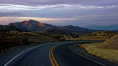 Photograph - Sonoita Mountain View Road At Sunset by Daniel Woodrum