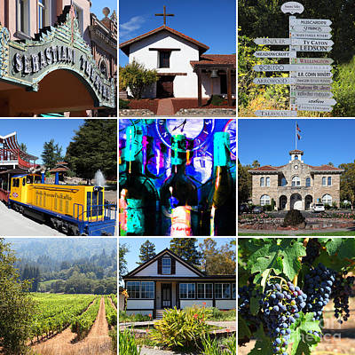 Sonoma County Wine Country 20140906 Art Print