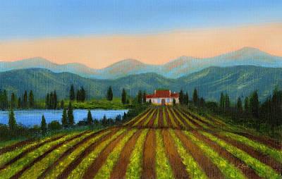 California Vineyard Painting - Sonoma by Gordon Beck