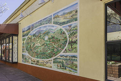 Photograph - Sonoma Historic Mural by Karen Stephenson