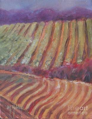 Central Coast Winery Painting - Sonoma Vines by Mary Hubley