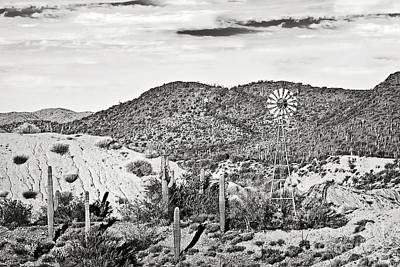 Photograph - Sonoran Desert And The Windmill by Lee Craig