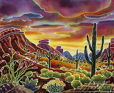 Cave Creek Painting - Sonoran Desert Glow by Harriet Peck Taylor