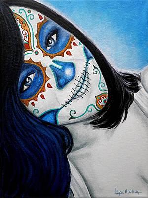 Sonrisa Azul Art Print