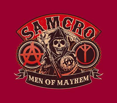 Sons Of Anarchy Digital Art - Sons Of Anarchy - Men Of Mayhem by Brand A