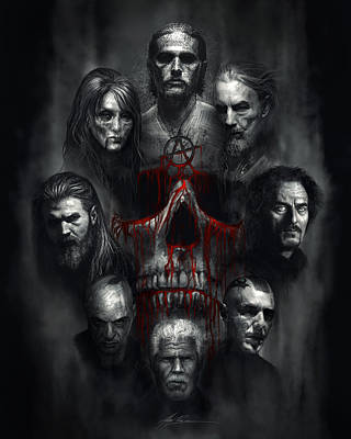 Portrait Digital Art - Sons Of Anarchy Tribute by Alex Ruiz