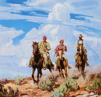 Borg Painting - Sons Of The Desert by Carl Oscar Borg