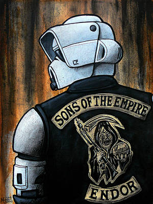 Sons Of Anarchy Painting - Sons Of The Empire by Marlon Huynh