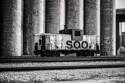 Caboose Photograph - Soo Caboose by CJ Schmit