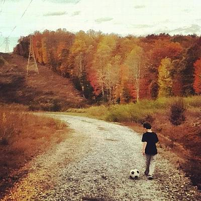 Autumn Hiking Art Print