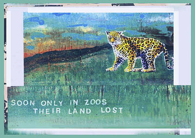 Mixed Media - Soon Only In Zoos  Their Land Lost by Mary Ann  Leitch