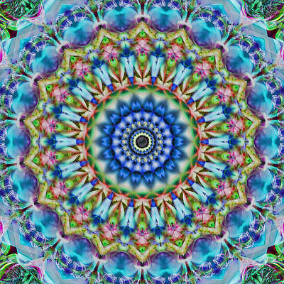 Photograph - Soothing Blues Mandala by Cindi Ressler
