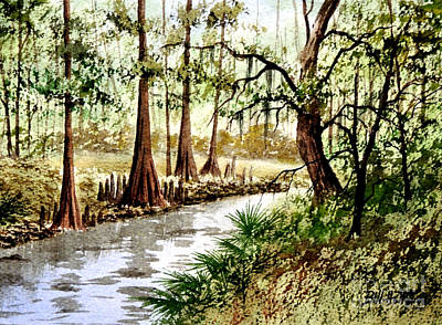 Sopchoppy River Florida Print by Bill Holkham