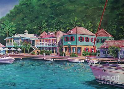 Puerto Wall Art - Painting - Soper's Hole Tortola  16x23 by John Clark