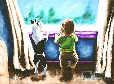 Waiting For Daddy Art Print by Jackie Carpenter