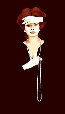 Sophia Loren 1 Original by Jann Paxton
