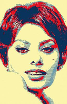Sophia Loren Art Print by Art Cinema Gallery