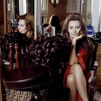 Cross Legged Photograph - Sophia Loren by Henry Clarke