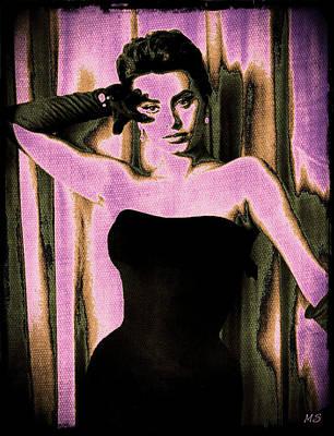 Italian Actress Digital Art - Sophia Loren - Purple Pop Art by Absinthe Art By Michelle LeAnn Scott