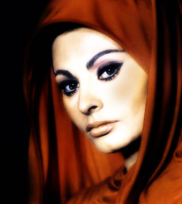Sophia Loren Art Print by Georgiana Romanovna