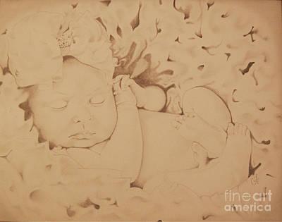 Angelic Drawing - Sophia Sleeps by Chanel Fernandez