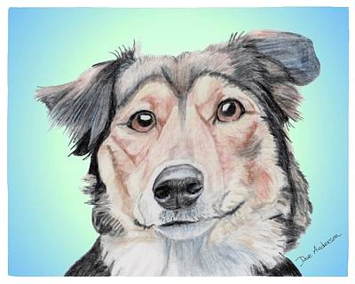 Sophie A Former Shelter Sweetie Art Print by Dave Anderson