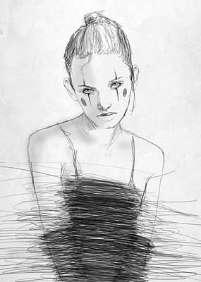 Circus Drawing - Sophie by H James Hoff