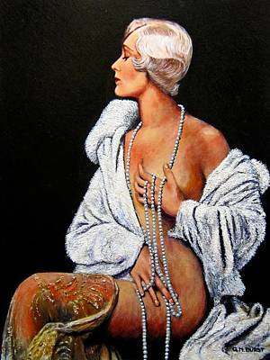 Pin-up Painting - Sophisticated Lady by Michael Durst