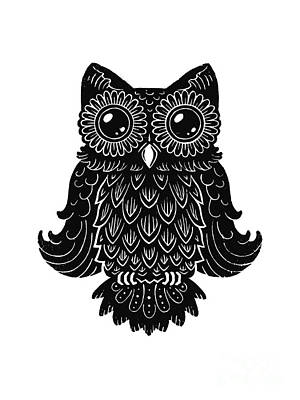 Sophisticated Owls 2 Of 4 Art Print by Kyle Wood