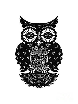Sophisticated Owls 3 Of 4 Art Print by Kyle Wood