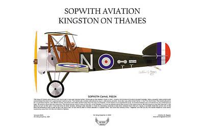 Sopwith Aviation Camel Art Print by Arthur Eggers