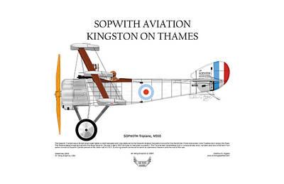 Sopwith Triplane Art Print by Arthur Eggers