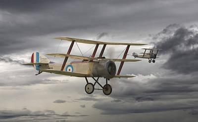 Ww1 Digital Art - Sopwith Triplane by Pat Speirs