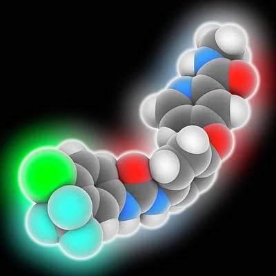 Sorafenib Drug Molecule Art Print by Laguna Design