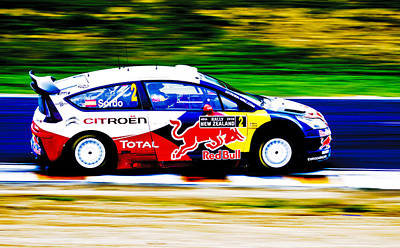 Rally New Zealand Photograph - Sordo Wrc Citroen by motography aka Phil Clark