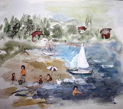 Sore Thumb Beach Art Print by Mary Spyridon Thompson