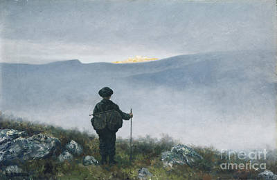 Moria Painting - Soria Moria by Theodor Kittelsen
