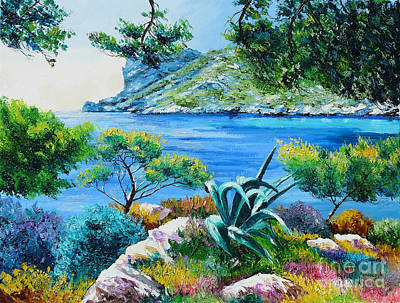 Oil Pastel Painting - Sormious Cove by Jean Marc Janiaczyk