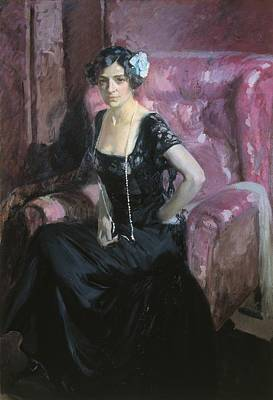 Sorolla, Joaqu�n 1863-1923. Clotilde En Art Print by Everett