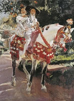 Sorolla, Joaqu�n 1863-1923. Portraits Art Print by Everett