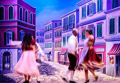 Photograph - Sorrento Ballo Tradizionale - Traditional Dance by Enrico Pelos