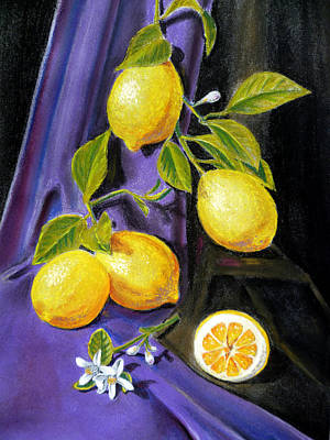 Lemon Painting - Sorrento Lemons by Irina Sztukowski