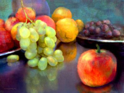 Painting - Sorrento Market by Patrick J Osborne