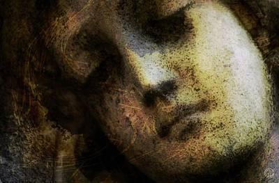 Sorrow Captured In Stone Forever Art Print by Gun Legler