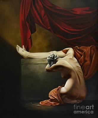 Painting - Sorrow by Nathalie Chavieve