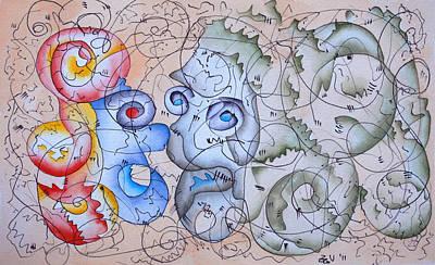 Wall Art - Painting - Sorrow by Zuzana Vass