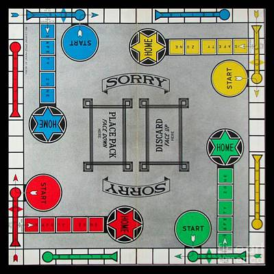 Photograph - Sorry Board Game by Steven Parker