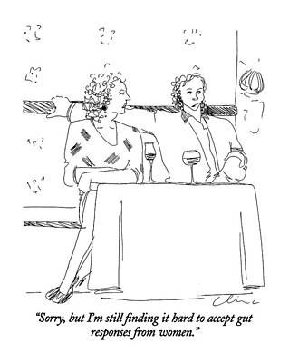 Table Wine Drawing - Sorry, But I'm Still Finding It Hard To Accept by Richard Cline